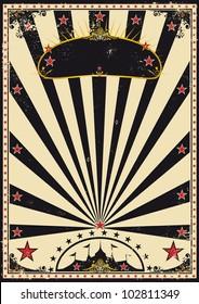 Dark circus. A retro circus poster for your advertising.