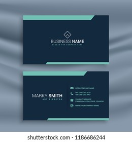 dark clean business card template