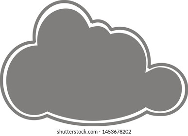 Dark cloud on a white background. Vector icon.