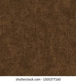 dark, coffee  brown vector Fabric, linen, burlap  texture. Fabric seamless  pattern