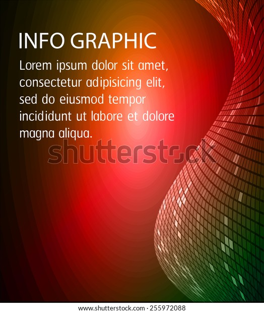 Dark colorful Light Abstract Technology background for computer graphic website internet and business. circle text box. Brochure. card. wave