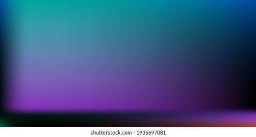 Dark Creepy Office Background. Multicolor Trendy Background. Creepy Modern Design Backdrop. Blank Horizontal Lines Backdrop. Black Neon Blurred Texture Illustration. Rainbow Colorful Vector.