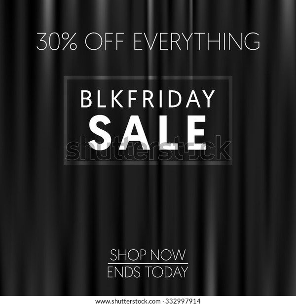 Dark Curtains Background Black Friday Banner Stock Vector Royalty Free 332997914