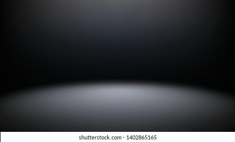 Dark empty stage with spot light smooth background