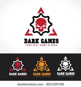 Dark games vector logo template