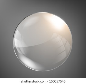 Dark glass circle background. Vector eps10.