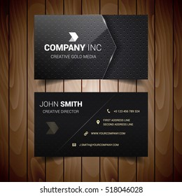 Dark Glass Dotted Business Card
