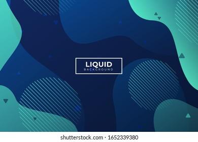Dark gradient Liquid background. Dynamic shapes composition. Eps10 vector