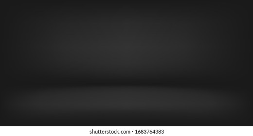 dark gray empty room studio gradient used for black background and display your product, dark background.