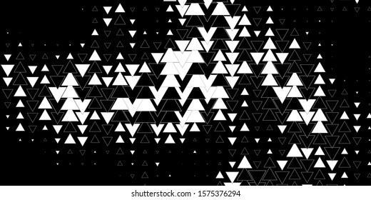 Dark Gray vector background with lines, triangles. Abstract gradient design with colorful triangles. Pattern for websites.