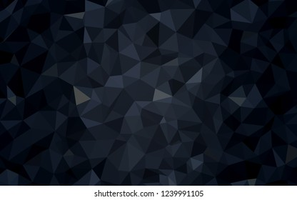 Dark Gray vector low poly layout. Glitter abstract illustration with an elegant triangles. Polygonal design for your web site.