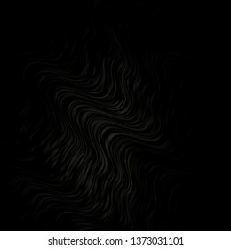 Dark Gray vector texture with curves. Abstract illustration with gradient bows. Template for cellphones.