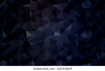 Dark Gray vector triangle mosaic texture. Modern abstract illustration with triangles. Template for cell phone's backgrounds.