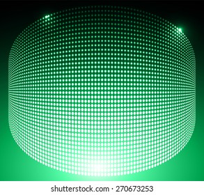 Dark green Abstract light lamps background for Technology computer graphic website internet and business.. Screen on stage. Vector illustration. Spot Effect. neon. point. dot