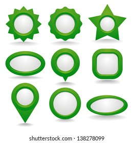 Dark green button set with copy space