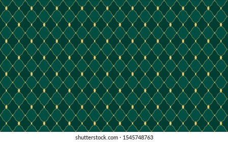 Dark green color. Deep emerald seamless vector pattern for premium royal party. Template for wedding, christmas, birthday banner BG. Background for invitation card. Festive traditional xmas backdrop