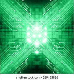 Dark green color Light Abstract Technology background for computer graphic website internet business. vector illustration. infographics. motion move.neon. pixel.