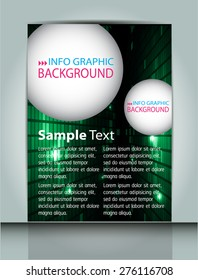 dark green Light Abstract Technology background computer graphic website internet and business. vector illustration. text box. Brochure. card. banner flyer magazine. Design label.