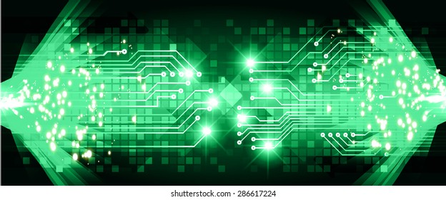 dark green Light Abstract Technology background for computer graphic website internet business.circuit. vector illustration. Security. infographics, Spark