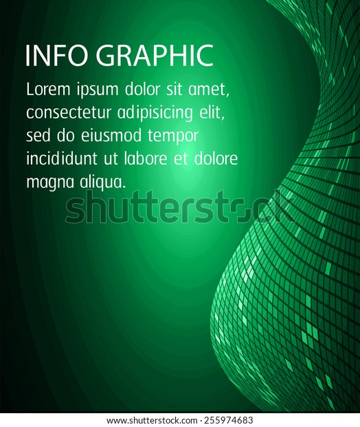 Dark green Light Abstract Technology background for computer graphic website internet and business. circle text box. Brochure. card. wave