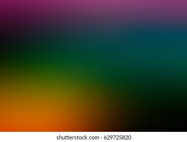 Dark Green, orange vector blurred shine abstract background. Creative illustration in halftone style with gradient. The blurred design can be used for your web site.