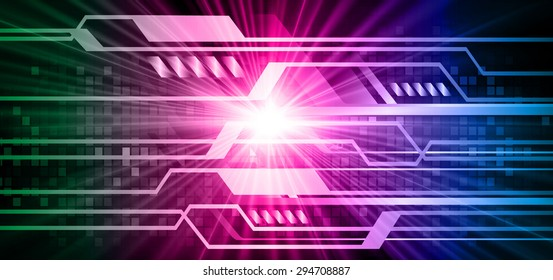 dark green pink blue color Light Abstract Technology background for computer graphic website internet and business. circuit. illustration. digital. infographics
