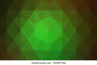 Dark green polygonal illustration, which consist of triangles. Geometric background in Origami style with gradient. Triangular design for your business.