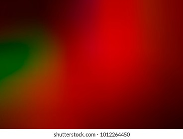 Dark Green, Red vector abstract template. A vague abstract illustration with gradient. Brand-new style for your business design.