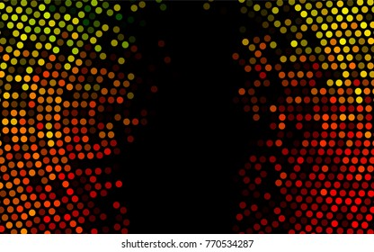 Dark Green, Red vector abstract pattern with circles. Geometry template for your business design. Background with colored spheres.