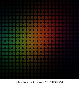 Dark Green, Red vector layout with circles. Colorful illustration with gradient dots in nature style. Pattern for business ads.