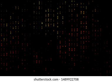 Dark Green, Red vector pattern with EUR, JPY, GBP. Illustration with EUR, JPY, GBP signs on white template. The pattern can be used for ad, booklets, leaflets of banks.