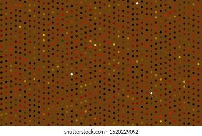Dark Green, Red vector template with circles. Glitter abstract illustration with blurred drops of rain. Pattern for beautiful websites.