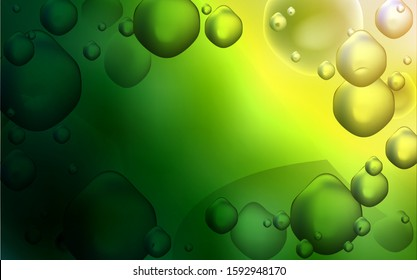 Dark Green, Red vector template with liquid shapes. Brand-new colored illustration in memphis style with gradient. Brand-new design for your ads, poster, banner.