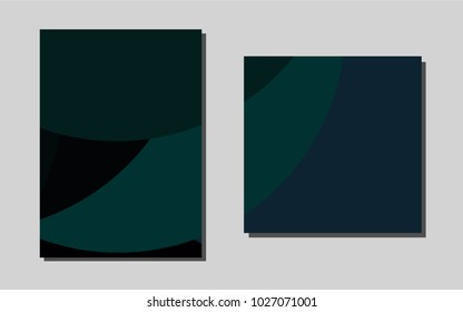 Dark Green, Redvector cover for Envelopes. Modern abstract design concept with colorful gradient. New design for a poster, banner of your website.