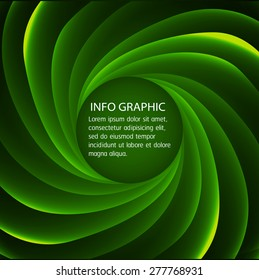 Dark green spiral blue red Light Abstract Technology background for computer graphic website internet business. text box. Brochure. card. label. banner. twist
