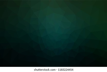 Dark Green vector abstract mosaic backdrop. Modern abstract illustration with triangles. Brand new design for your business.