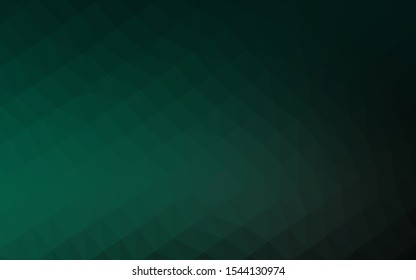 Dark Green vector abstract mosaic backdrop. Modern geometrical abstract illustration with gradient. Completely new template for your business design.