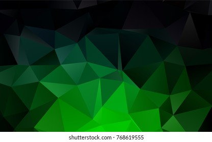 Dark Green vector abstract mosaic background. Modern geometrical abstract illustration with gradient. The template can be used as a background for cell phones.