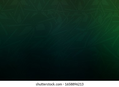 Dark Green vector backdrop with lines, triangles. Modern abstract illustration with colorful triangles. Modern template for landing page.