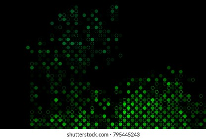 Dark Green vector  background with bubbles. Blurred bubbles on abstract background with colorful gradient. Completely new template for your brand book.