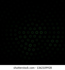 Dark Green vector background with circles. Abstract colorful disks on simple gradient background. Pattern for booklets, leaflets.