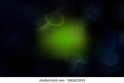 Dark Green vector background with lamp shapes. A completely new color illustration in memphis style. The elegant pattern for brand book.