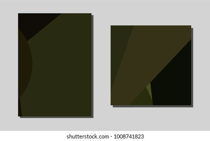 Dark Green vector background for presentations. Booklet with textbox on colorful abstract background. Beautiful design for cover of notepads.