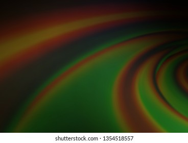 Dark Green vector blurred shine abstract pattern. Colorful abstract illustration with gradient. Brand new design for your business.