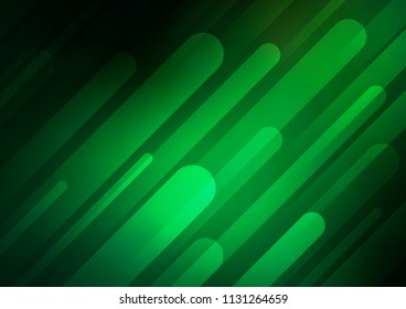 Dark Green vector pattern with narrow lines. Lines on blurred abstract background with gradient. Smart design for your business advert.