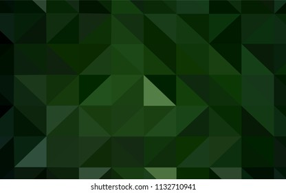 Dark Green vector polygon abstract background. A sample with polygonal shapes. A completely new design for your leaflet.