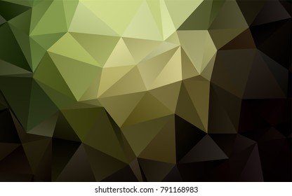 Dark Green vector polygon abstract pattern. Shining colored illustration in a brand-new style. The template can be used as a background for cell phones.