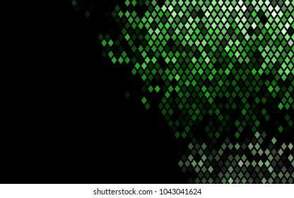 Dark Green vector polygonal illustration, which consist of rectangles. Rectangular pattern for your business design. Geometric background in Origami style with gradient.