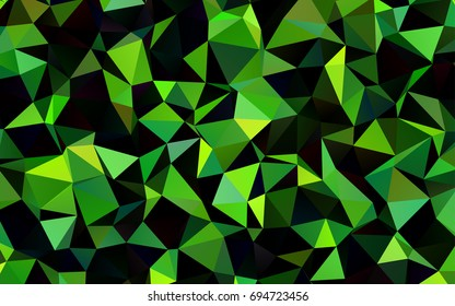Dark Green vector polygonal pattern. Modern geometrical abstract illustration with gradient. Brand-new design for your business.