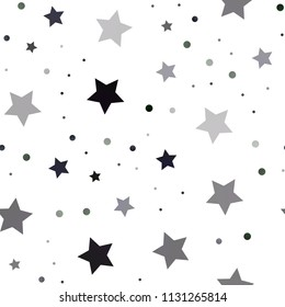 Dark Green vector seamless pattern with christmas stars. Stars on blurred abstract background with gradient. The pattern can be used for wrapping gifts.
